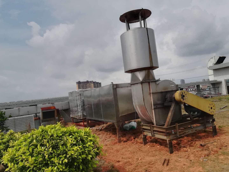 东莞市威保科技有限公司有机废气治理工程施工中